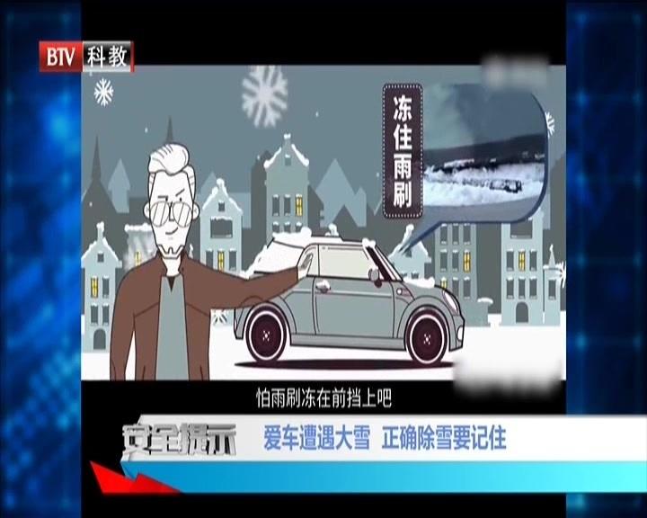 爱车遭遇大雪  正确除雪要记住