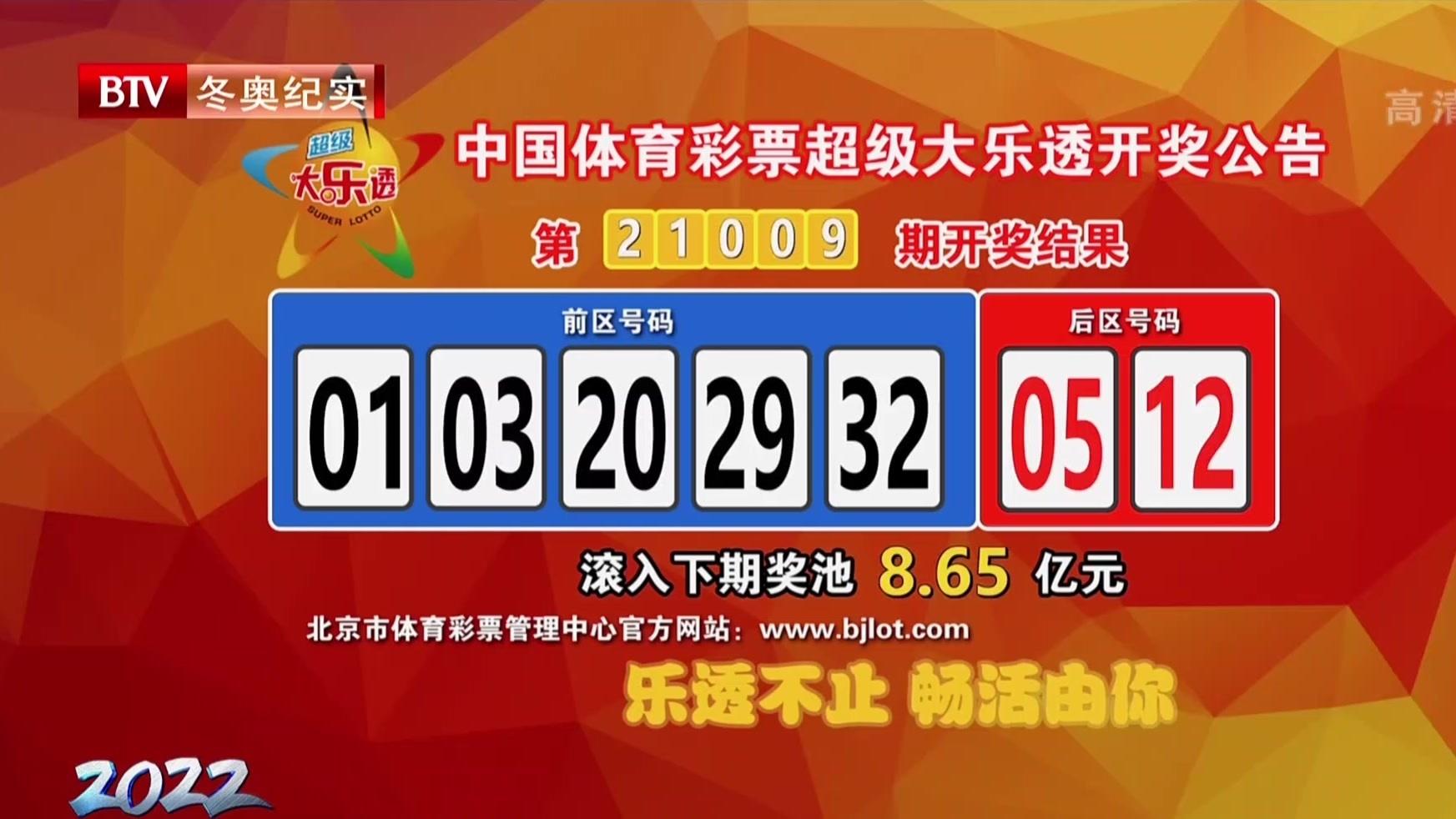 中国体育彩票超级大乐透开奖公告