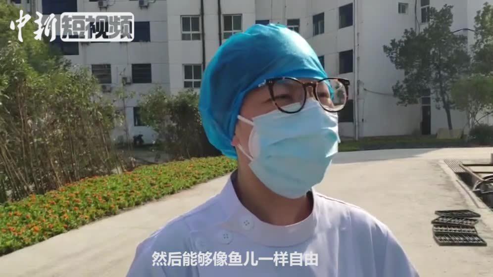 """贵州援助湖北医护人员为治愈患者手工制作""""爱心礼物"""""""