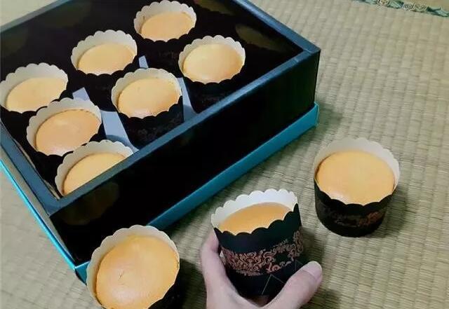 Orange milk cup cake, light orange, soft and moist taste!