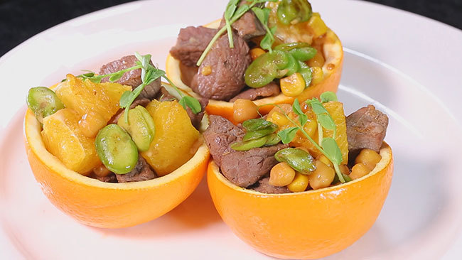 《养生厨房》有助于保护血管——橙香三豆