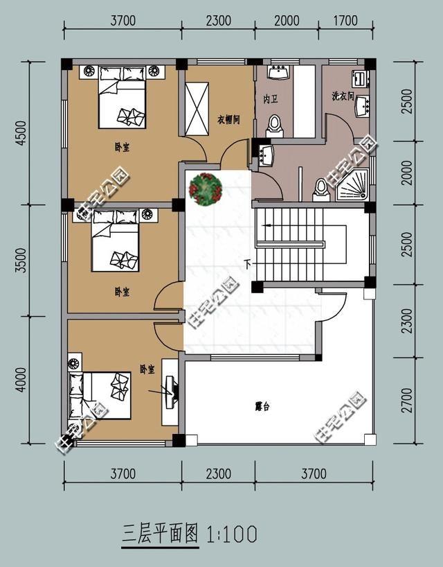 老人房必须朝南还要套间,新农村别墅10米X12