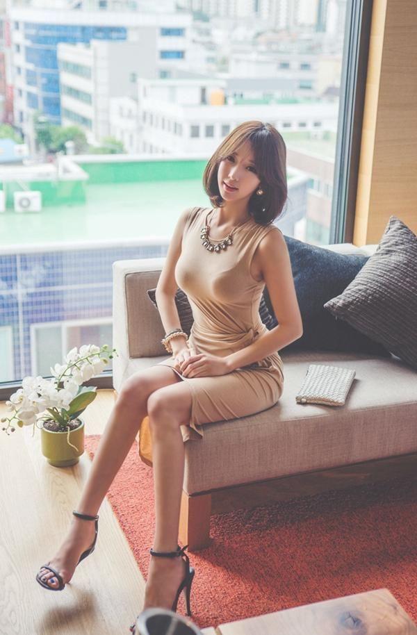 得体的裸色裙,凸显性感身姿,秒变女神范 时尚潮流 第7张