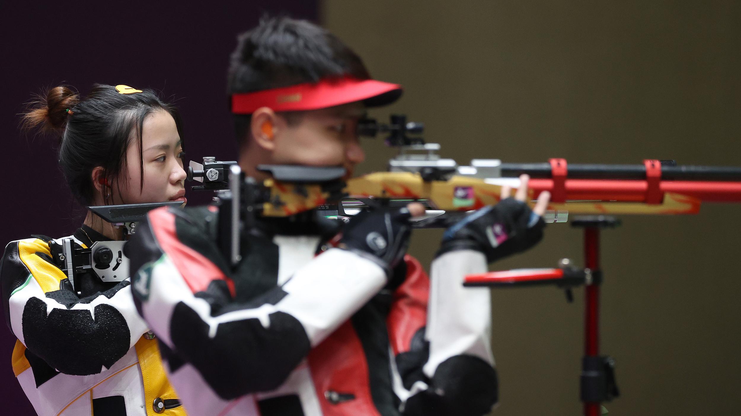 第9金! 杨倩/杨皓然获得射击10米气步枪混合团体冠军