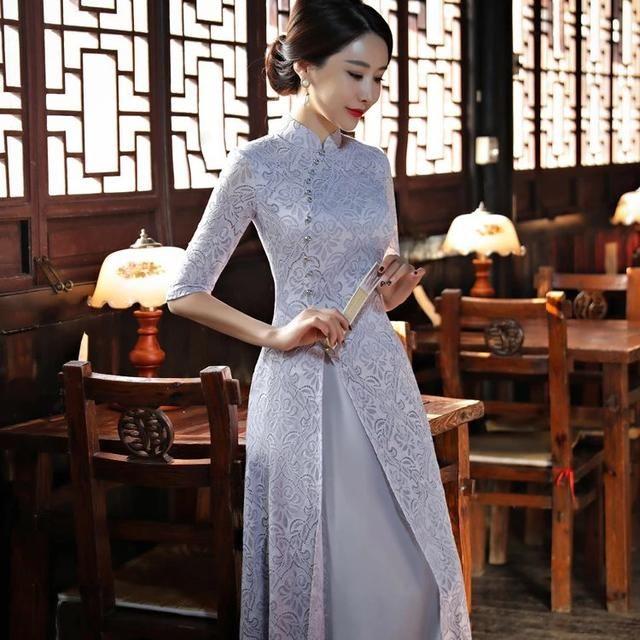 旗袍最浅是灰色,不属暖也不属冷! 时尚潮流 第2张