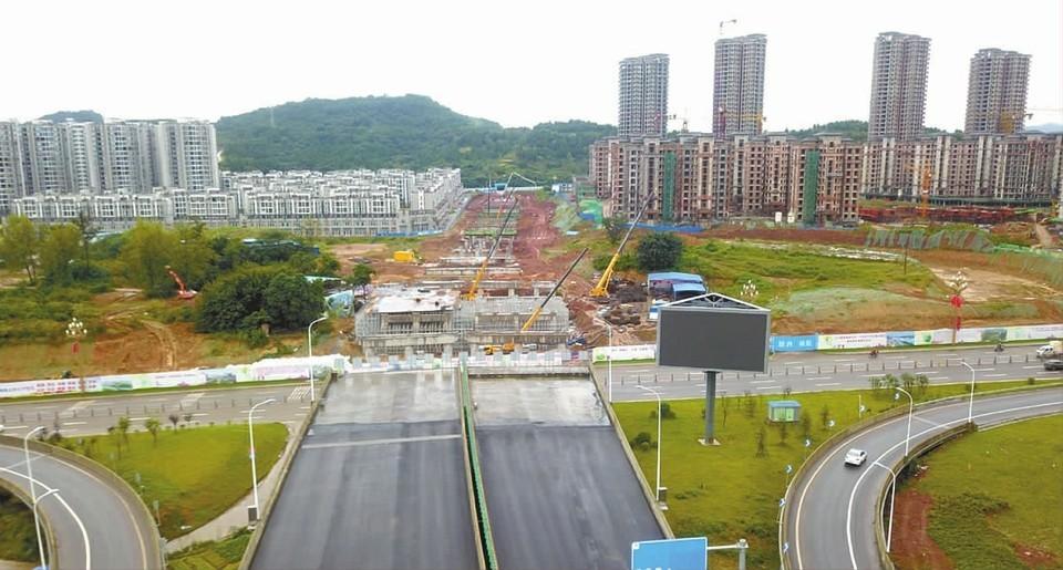都京港嘉陵江大桥延伸线 工程完成过半